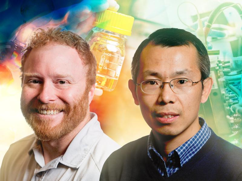 PNNL scientists Dave Heldebrant and Yuyan Shao were elected to positions in the American Chemical Society