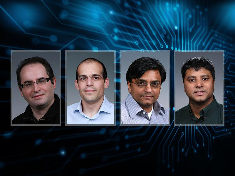 Sutanay Choudhury, Mahantesh Halappanavar, Marco Minutoli, Antonino Tumeo present at machine learning conference.