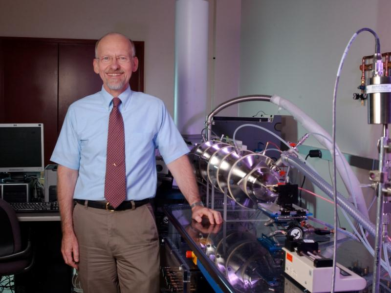 "Richard ""Dick"" Smith with a PNNL ion mobility instrument."